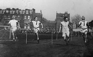 Noel Chavasse in athletic action 1907
