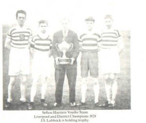 Sefton Harriers Youth Team with Stan Lubbock 1928