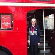 Rosie Johnson at young athletes event London Marathon 2012