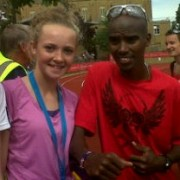 Rosie Johnson and Mo Farrah August 2012