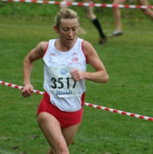 Kirsty Longley in action for England 10 November 2012