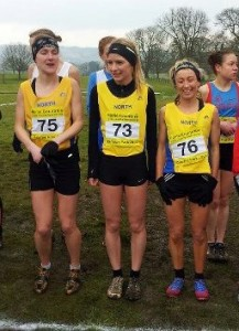 Kirsty Longley(76) at Carmarthen with her Northern team mates