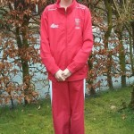 Rosie Johnson in her England Track Suit