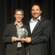 Graeme Ballard with coach Tabo Huntley at Wests Lancs Sports Awards 2013