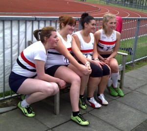 Four lovely LPS girls take a break from competition
