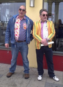 Neil McLaughlin and Dave Brown on the run from the fashion police