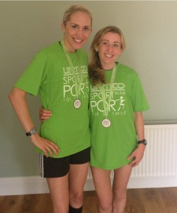 Lisa Gawthorne & Kirsty Longley winner of the 5 & 10k at Sport at the Port