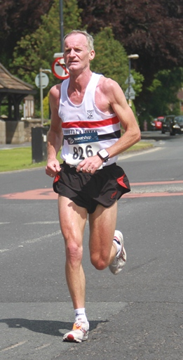 Greg Callaghan in action at Freckleton Half Marathon June 2013