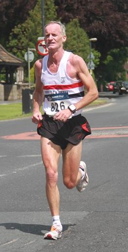 Greg Callaghan in action at Freckleton Half Marathon June 2013