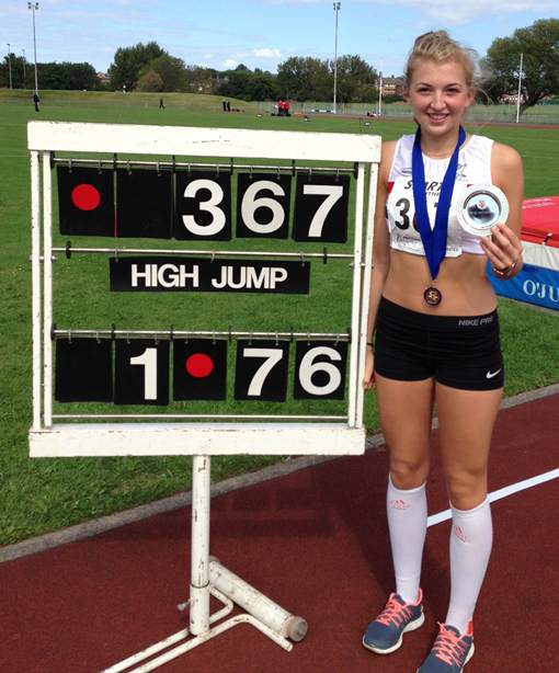 Amelia McLaughlin Northern Athletics Under 17 High Jump Champion 2013
