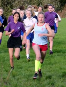 Anna Hulme leads from start to finish