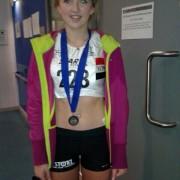 Amelia McLaughlin Gold Medal winner at Northern Athletics Indoor Championships 2014