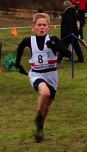 Kyle Robinson-Murray on his way to the U/13 title