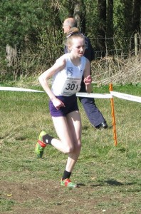 Rosie Johnson on her way to the silver medal at English schools