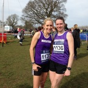 Lisa Gawthorne and Vicki Jones at the Inter-counties Championships