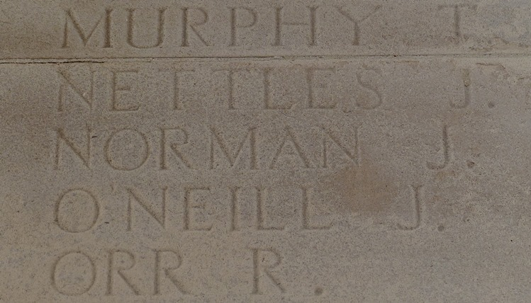 War Memorial for Sefton Harrier Sergeant John Norman 3387 1st/10th Bn., The King's (Liverpool Regiment) who died on 9th August 1916