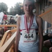 Dan Slater silver medal 3,000m at England Athletics Under 15s Championships