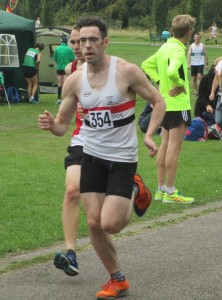 Harry Doran in action at North West Road Relays at Stockport