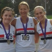 Lauren Wilson, Claire Constable, Liza-Gawthorne silver medal in Merseyside Road Relay