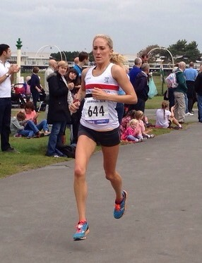 Lisa Gawthorne on her way to second place in Southport 10k