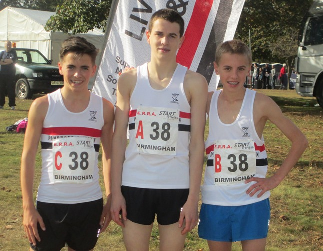 LPS Under 15 Boys Matt Richards, Dan Slater, Dan Jones 4th place in National Road relays