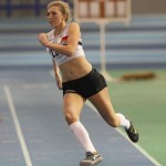 Amelia McLaughlin in action at Northern Athletics Under 20 indoor champs Sheffield
