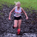 Charlotte Mawdsley battling the mud