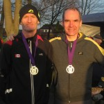 Greg Callaghan 1st over 50 and John Halson 2nd over 50 at Merseyside Cross Country Championships