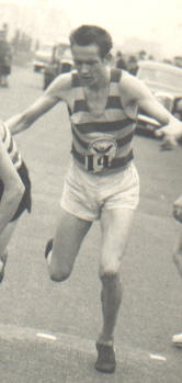 Ken Beisty running for Pembroke in 1950s