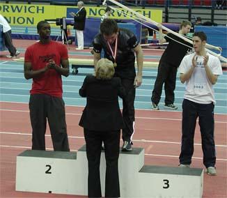 Phil Taylor AAA Indoor 400m champions 2004