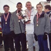 ECCAA Under 17 Champions 2002 Liverpool Pembroke & Sefton LtoR Rory Smith, Michael Rimmer, Alan Stewart, Ben Jones.