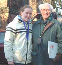 Maria Barrett with club President Les Williams