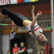 Amelia McLaughlin in action at Scottish Champs