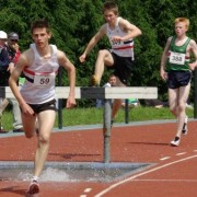 Chris Hesketh on route to gold.