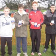 Northern Cross L to R Ed Rimmer, Chris Hatton, Toby Loveridge, Mike Bride Country Championships.