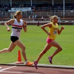 Clare Constable in action in the 800m