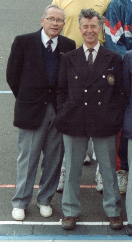 Duncan Brown (left) & Gordon Evans 1990