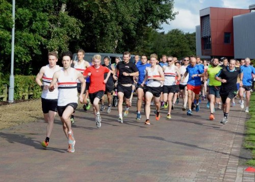 Ormskirk park run just after the start