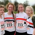 U17W (silver medal) L-R Morag Molyneux, Flossie Dickinson, Anna Hulme, Charlotte Mawdsley