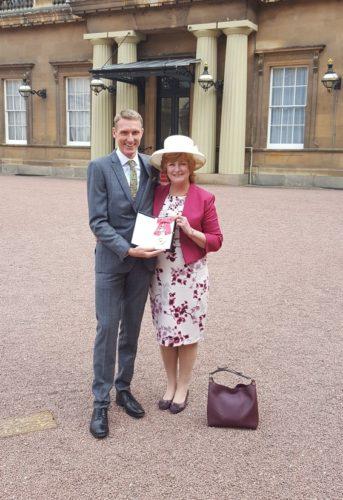 Kevin with Dame Caroline