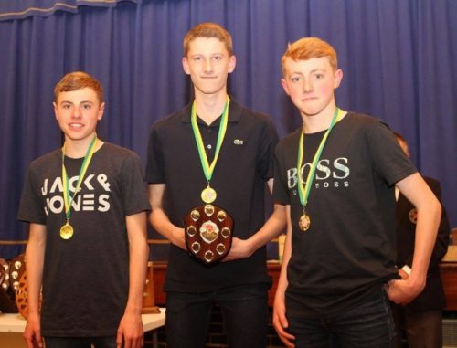 U17 men - L-R Dan Jones, Ross Harrison, Adam Jones