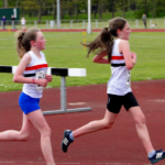 Hannah Rose Doyle & Faye Hannaway competing in 3K