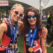 Lisa Gawthorne Helen Saghal at ITU World Multi Sport championships in Canada