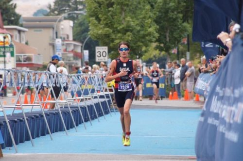 Helen Saghal at ITU World Multi Sport championships in Canada