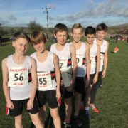 Formby HS U13Boys LPS contingent (front to back) Stanley Benson(2), Oscar Davidson(3), Harry Wright(4), Gideon Lucas(6)