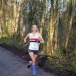 Lisa running strongly toward a season best at Halewood