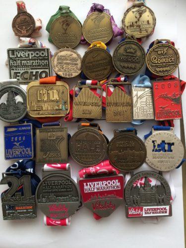 Jamie Doolans half marathon medal haul