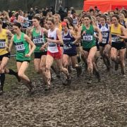 Kirsty Longley running for Merseyside in the inter counties 2018