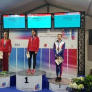 Clare on podium in Madrid