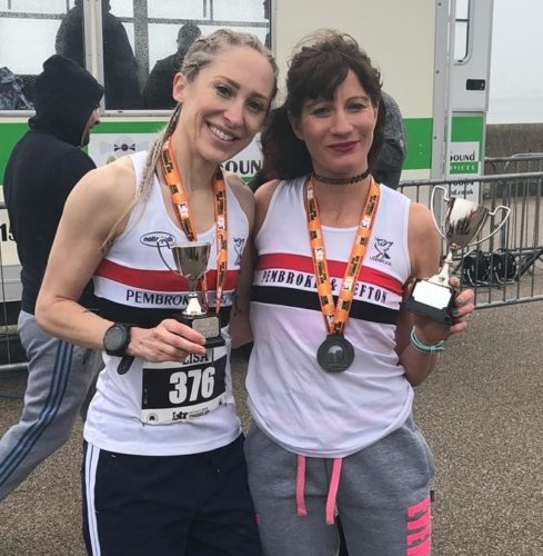 Lisa Gawthorne and Helen Sahgal first and second at the Tunnel 10k